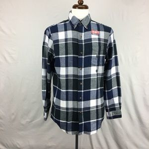 Chaps Blue Plaid Flannel Button Down shirt
